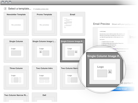 HubSpot email software templates